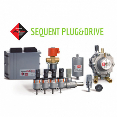 BRC SEQUENT PLUG&DRIVE (200-240KW) V 2 x Genius MB 1500 8 цил.